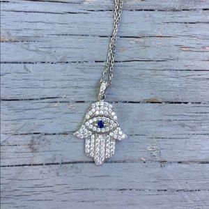 Jewelry - Hamsa sterling silver necklace